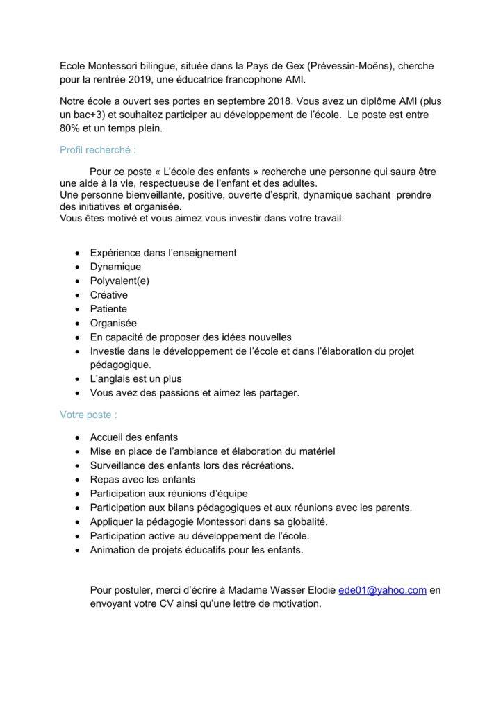 association montessori suisse - page 4 sur 22
