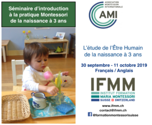 Flyer IFMM formation Montessori 0-3 ans